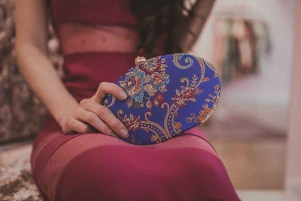 Bolso Azul Bordado 1