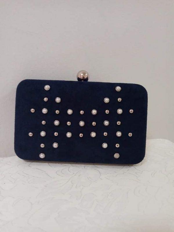 Bolso Azul Tachuelas 1