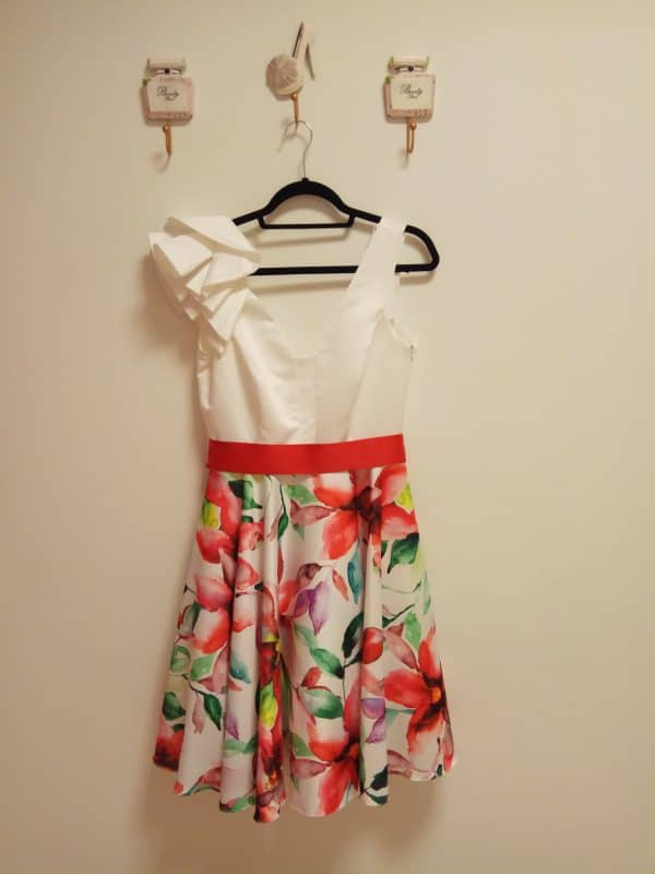 Vestido Falda Estampada 1