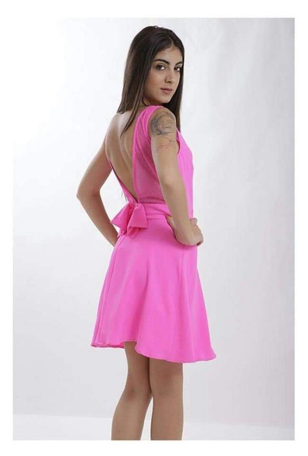 Vestido Corto Lazo Espalda 1