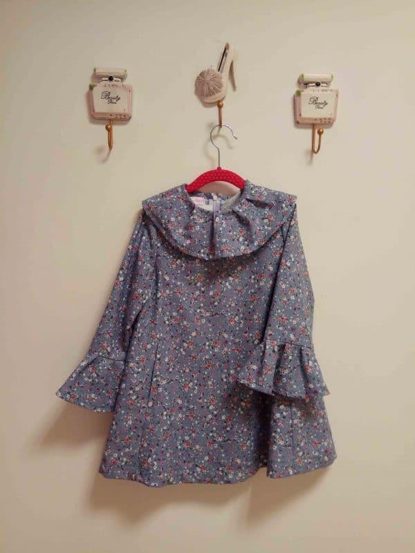 Vestido Niña Azul Estampado 1